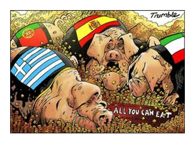 PIGS - Portugal, Itlay, Greece & Spain